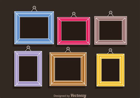 colorful picture frames colorful frames photo collage template free