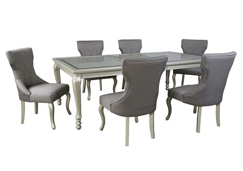 silver dining table set harlem furniture coralayne silver finish rectangular