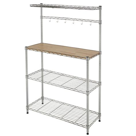 wire kitchen rack storage homegear wire kitchen bakers rack block storage ebay 1557