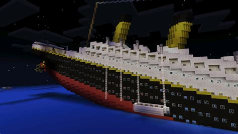 Minecraft Boat Titanic by Rms Titanic Sinking Creation Minecraft Pe Maps