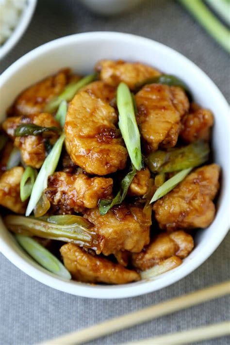 mongolian chicken mongolian chicken recipe pickled plum food and drinks
