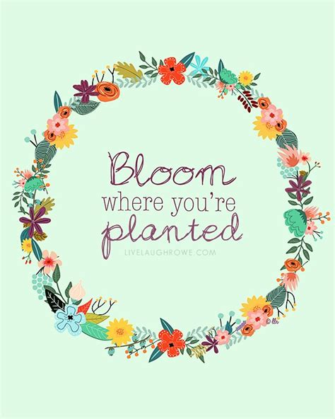 Your preferences will apply to this. Bloom Where You're Planted Printable - Live Laugh Rowe