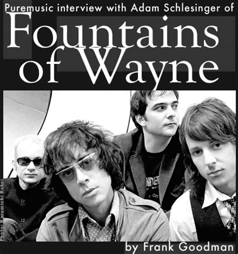 Puremusic Interview With Adam Schlesinger Of Fountains Of