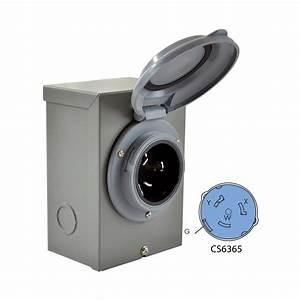 Conntek Diy Wiring Generator  Industrial  Temporary Cs6375 50 Amp 125  250