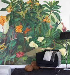 behang contemporary restyled palm jungle van cole son With markise balkon mit tapete palm jungle