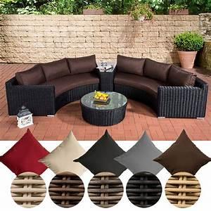 Lounge Set Garten : clp poly rattan garten lounge set rund barbados 2x 3er ~ A.2002-acura-tl-radio.info Haus und Dekorationen