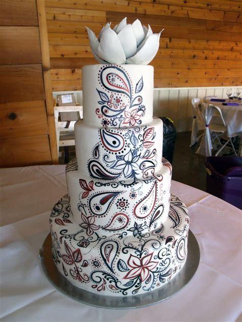 paisley cake decorations paisley wedding decorations pin painted paisley