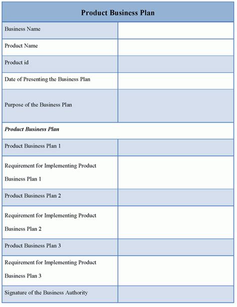 3 how to create a business plan: business plan template   Download Editable Product Business Plan Template for only $4.99 ...