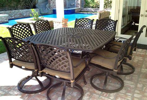 9 outdoor dining set nassau cast aluminum patio 64
