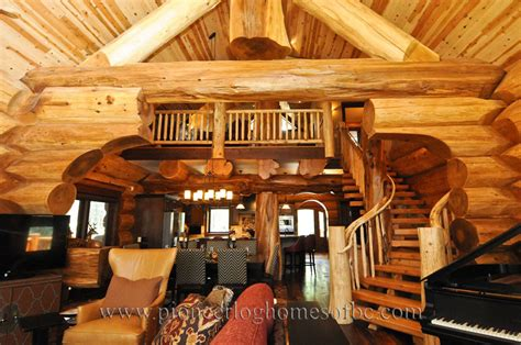 Log Cabin Style Living Room & Loft Designs