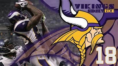 Vikings Minnesota Screensavers Sidney Rice Desktop Wallpapers