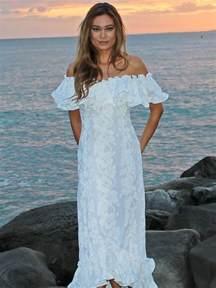 White Hawaiian Wedding Dresses