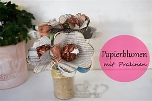 Einfache Papierblume Basteln : papierblume basteln mit pralinen handmade kultur ~ Eleganceandgraceweddings.com Haus und Dekorationen