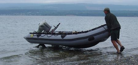 The Boat Motor And Trailer Have Weights by Inflatable Launching Wheels How To Launch A Small Boat