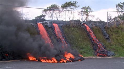 lava pahoa hawaii flow station kilauea puna transfer nbc eruzione paradis fiumi lon piu