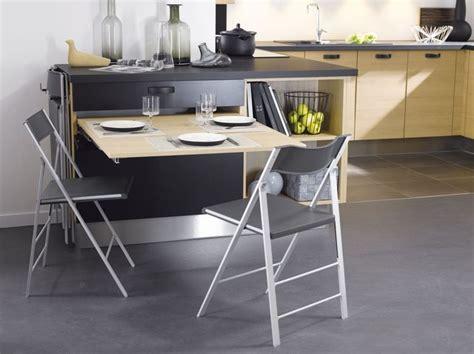 table cuisine escamotable ou rabattable cuisine 12 astuces gain de place côté maison