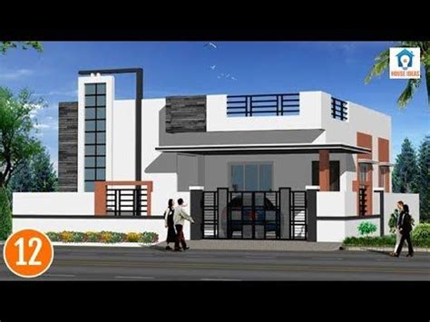 individual houses modern front elevations single floor home designs house elevations