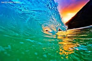 Colorful Ocean Waves Hawaii
