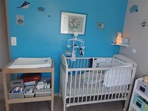 Chambre Gris Et Bleu : deco chambre bebe garcon gris et bleu ~ Melissatoandfro.com Idées de Décoration