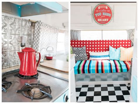 diy red  aqua glamper makeover  vanessa craft