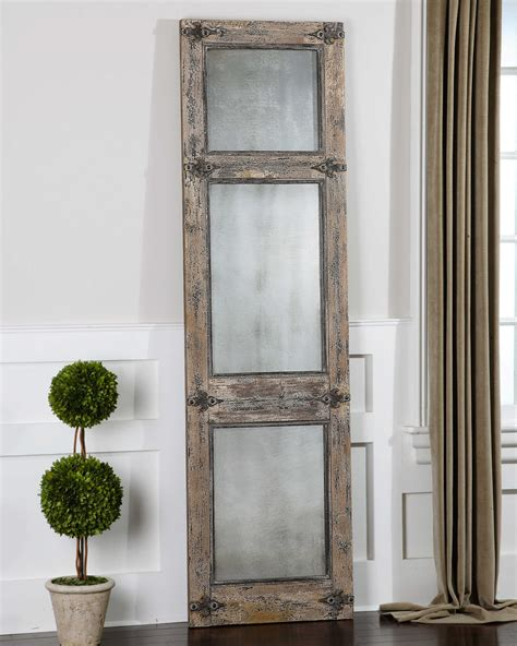 uttermost co uttermost saragano distressed leaner mirror
