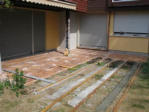 terrasse en bois homeandgarden With comment faire une dalle beton pour terrasse