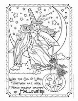 Coloring Witch Halloween Pages Adult Colouring Owl Adults Printable Fantasy Books Witches Sheets Printables Woojr Bestcoloringpagesforkids Postcard Shopkins Activities Menu sketch template