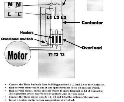 Single Phase Magnetic Contactor Wiring Diagram by How To Wire A Single Phase Motor Starter Impremedia Net