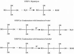 Hydrolysis And Condensation Reactions In Sol