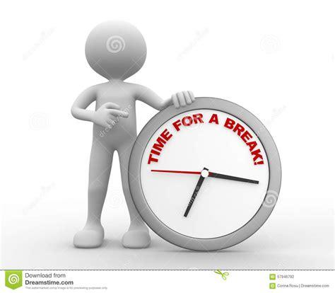 Time For A Break! Stock Illustration Illustration Of