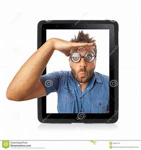 Wow expression with tablet stock image. Image of ...