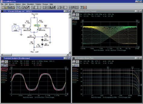 electronic design software free circuit simulator circuit design and simulation