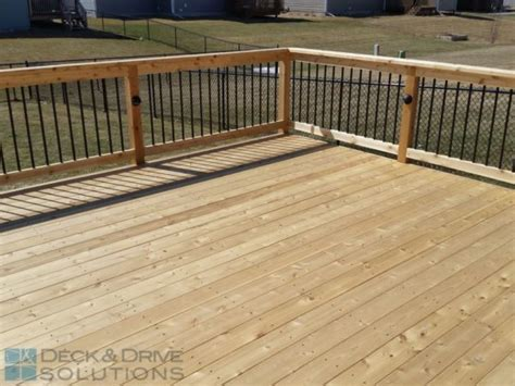 easy decking solutions simple cedar deck with corner stairs for patio expansion