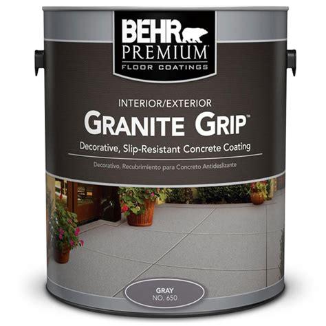 garage floor paint grip behr 1 gal 65001 gray granite grip interior exterior concrete paint 65001 the home depot