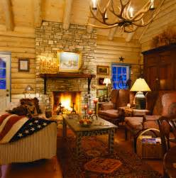 French Country Living Rooms Images by Beyond The Aisle Home Envy Log Cabin Interiors