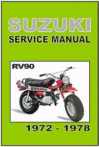 Buy Suzuki Workshop Manual Rv90 Rover 1972 1973 1974 1975 1976 1977  U0026 1978 Service Motorcycle In