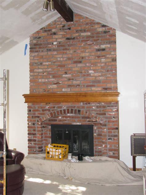 brick fireplace red brick fireplace makeover home design inside