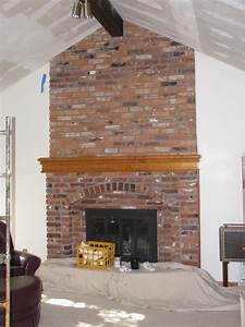 Red Brick Fireplace Makeover - Home Design Inside