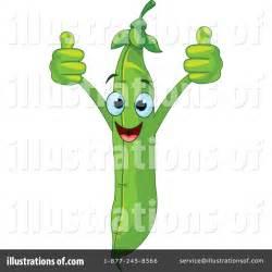 Cartoon Green Bean Clip Art