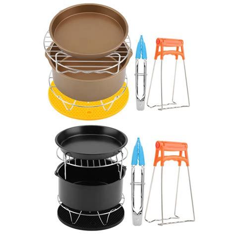 fryer air accessories parts rack kit kitchen skewer pan metal holder cake pizza fryers oven cooking tools sets cooker cookware