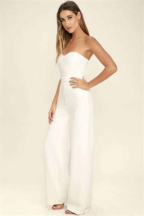 white jumpsuits for chic white jumpsuit wide leg jumpsuit strapless