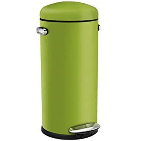 green kitchen bins retro pedal bin 30l green simplehuman co 1387