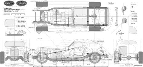 Top of seats do include grab bar. bugatti type 57sc atlantic - BlueprintBox.com - Free Plans ...