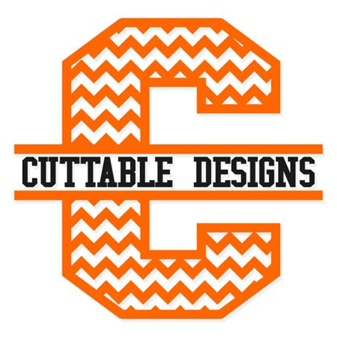 chevron split svg cuttable font