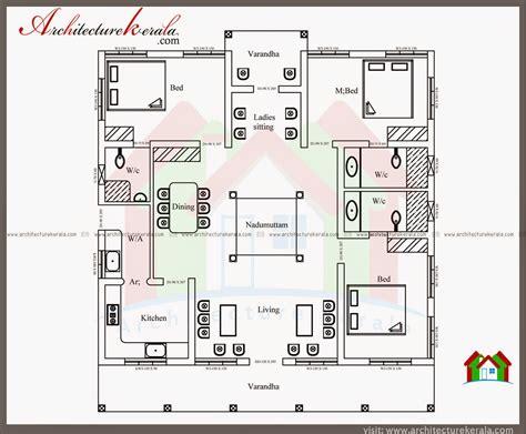 1500 sq ft house floor plans nalukettu style kerala house with nadumuttam