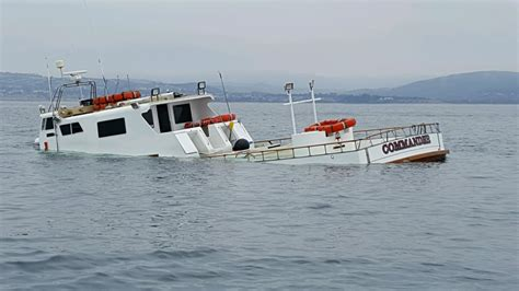 Sinking Boat by Update Harbor Patrol Rescues Two From Sinking Fishing