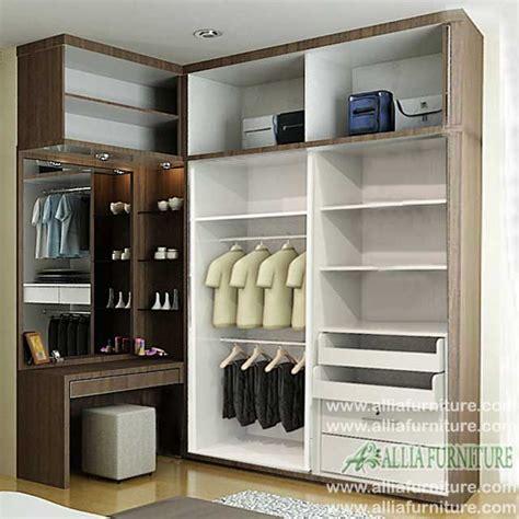 lemari pakaian minimalis sudut  vista allia furniture