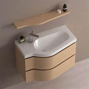 meuble de salle de bain chene clair 80 cm surf With meuble salle de bain en chene clair