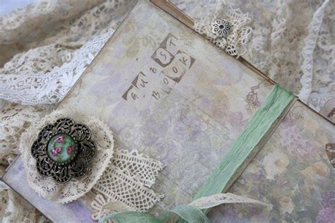 shabby chic wedding guest book lace wedding guest book shabby chic style mint green vintage cottage style custom on luulla