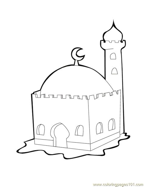 Coloring Mosque by Mosque Coloring Page Free Religions Coloring Pages